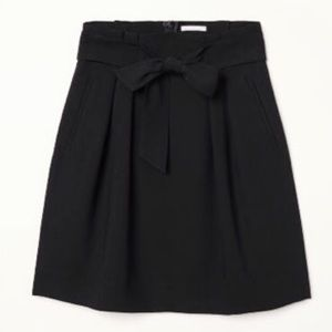 H&M Black Tie Ribbon High Waist Skirt